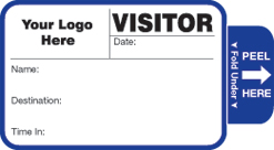 One Day Time-Expiring Visitor Badge, TAB-Expiring, Visitor Pass Badge Style #808