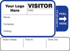 One Day Time-Expiring Visitor Badge, Threshold Badge Style #813