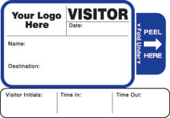 One Day Time-Expiring Visitor Badge, TAB-Expiring, Visitor Pass Badge Style #814