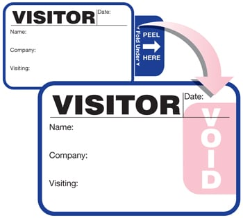 TAB-Expiring Visitor Badge; One Day Time-Expiring Visitor Badges