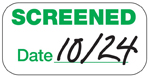 Expiring Screened Sticker is valid today