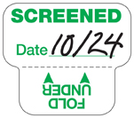 Expiring Screened Sticker off the roll