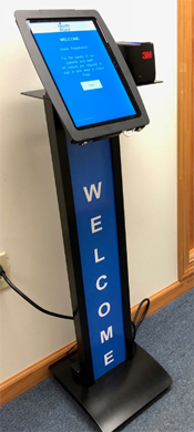 Touchscreen visitor management systems make registering visitors simple