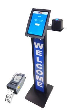 eVisitorPass Stand-Up Kiosk