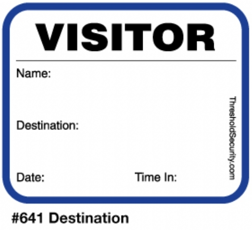 Stock Extra Small Visitor Badges (225 badges)