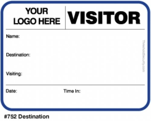 Large Size Visitor Badges
