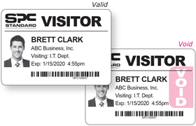 Direct Thermal Visitor Badges for DYMO, Brother, Zebra printers