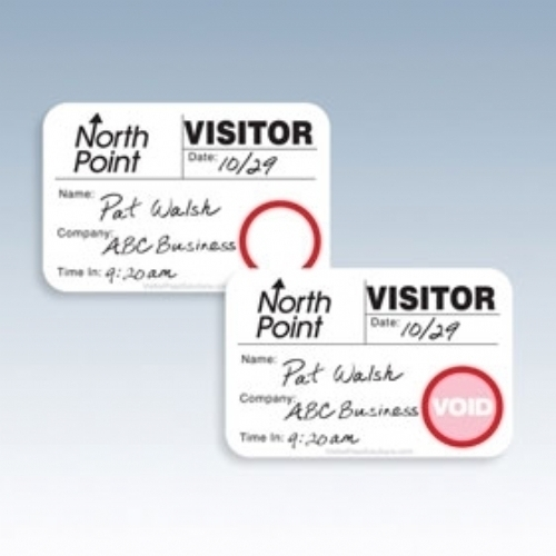 Sign-In Books with Dot-Expiring Visitor Badges, TIME-Expiring Visitor Badges
