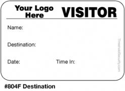 One Day Time-Expiring Visitor Badge, FULL-Expiring Visitor Pass #804F