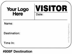 One Day Time-Expiring Visitor Badge, FULL-Expiring Visitor Pass #808F